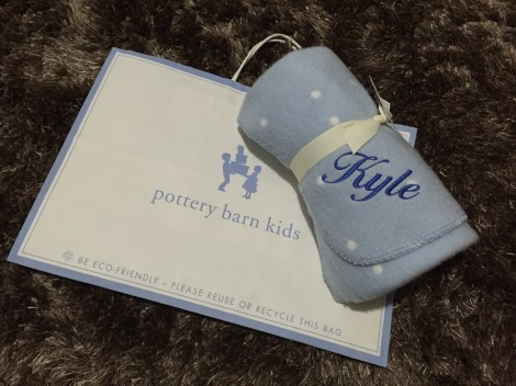 Pottery Barn - Personalised Receiving Blanket